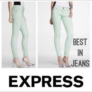 Express Mint Green Cropped Legging Pants